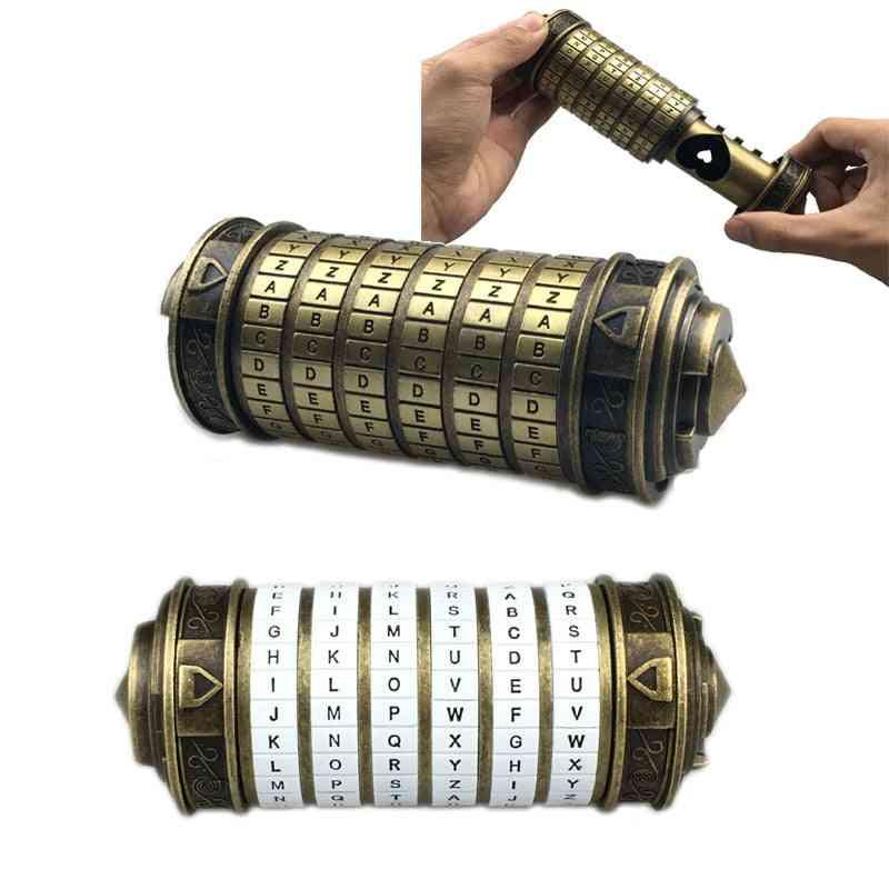 Leonardo Da Vinci Code - Metal Cryptex Locks Wedding, Valentine's Day