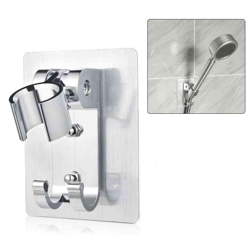 Space Aluminum Shower Holder - Metal Adjustable Self Ahesive Suction Cup