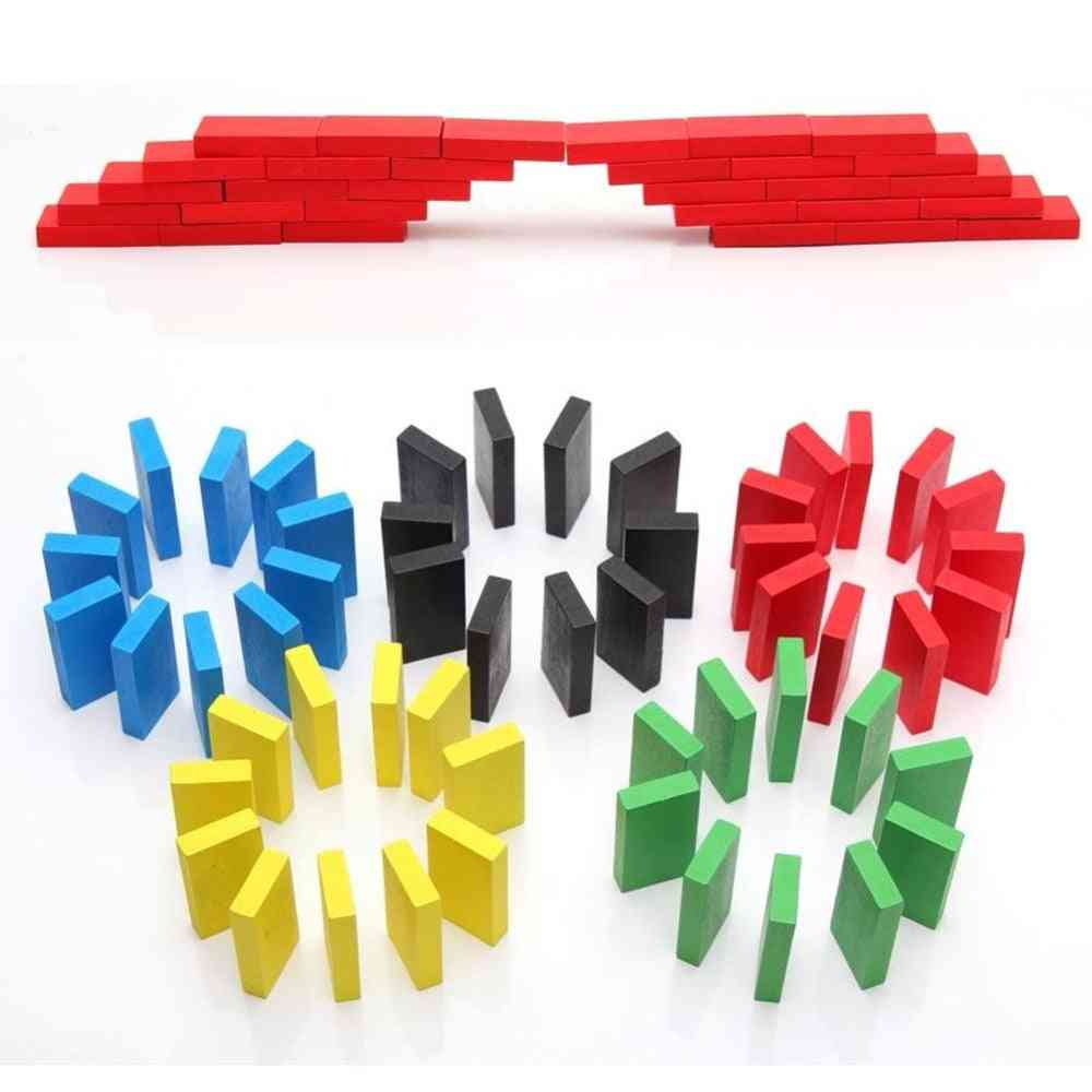Wooden Bright, Coloured Tumbling Dominoes Toy