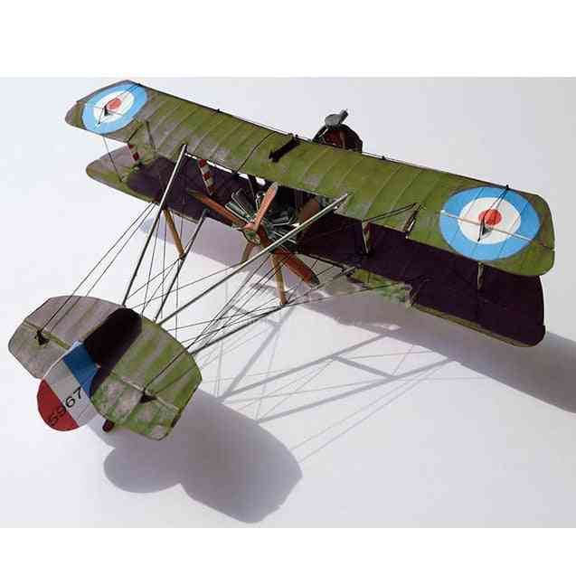 1:33 Uk Airco, Dh.2 Wing Fighter- Diy 3d Paper Card Model Building Sets