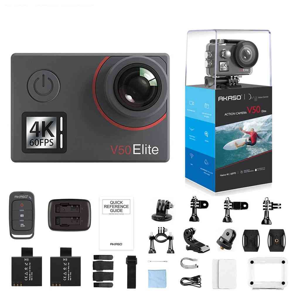 4k/60fps, 20mp Ultra Hd, Waterproof Action Camera With 2.5 Inch Touch Screen