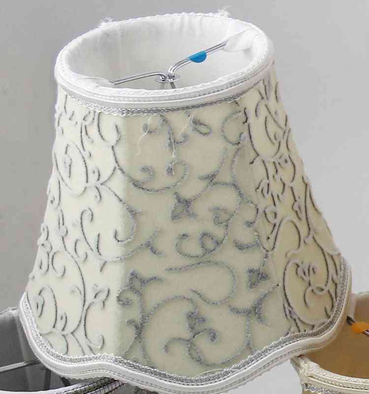 Vintage Cloth Lamshade - Crystal Candle Chandelier Wall Lamps