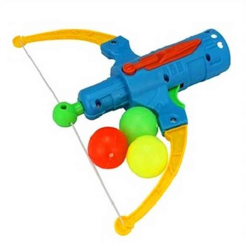 Arrow Table Tennis Gun - Bow Archery Plastic Ball Flying Disk Shooting Toy