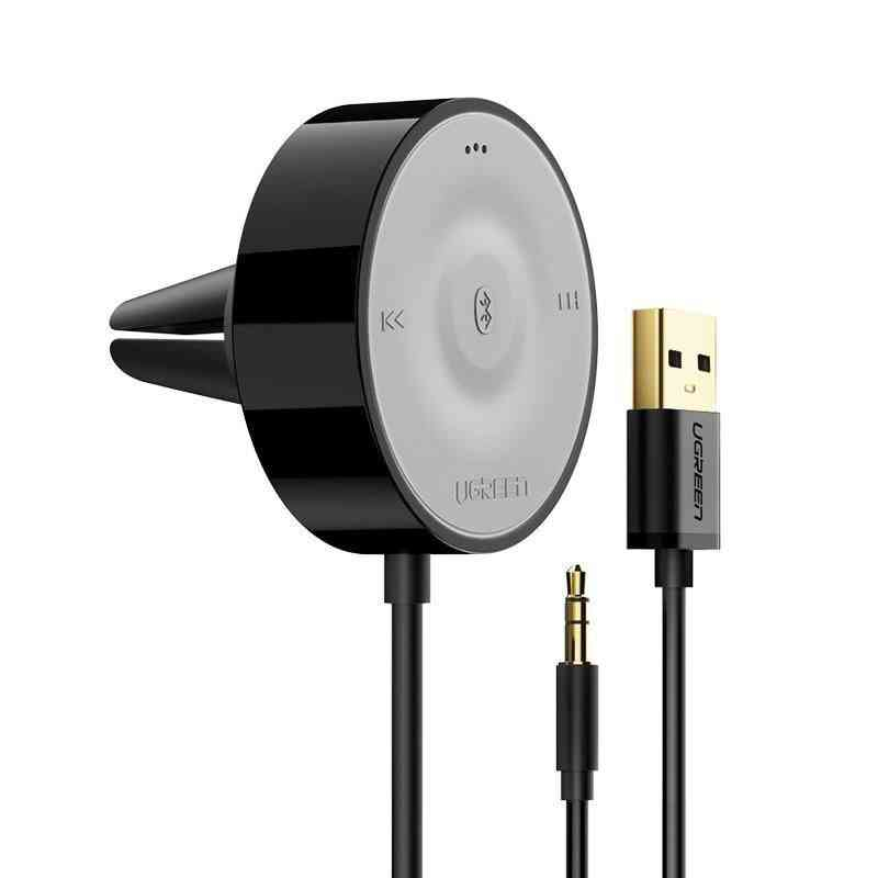 Bluetooth 5.0 Car Kit Receiver, Aptx Ll Wireless 3.5 Aux Adapter For Car Speaker