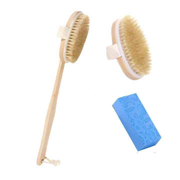 Skin Body Soft Natural Bristle The Spa Brush Without Handle Wooden