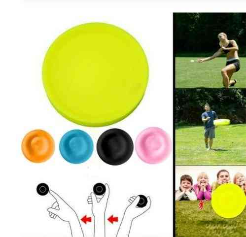 Mini Beach Flying Disk For Outdoor Sports Silicone Disc Decompression