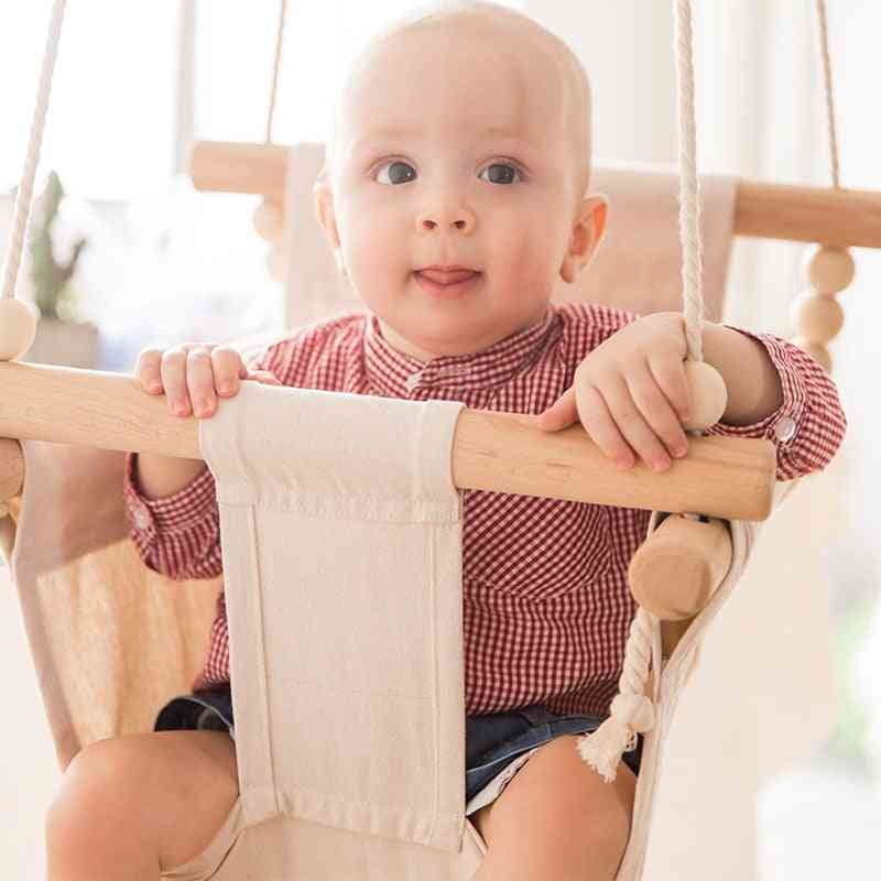 Baby Swing Chair Hanging Wood - Kindergarten Toy