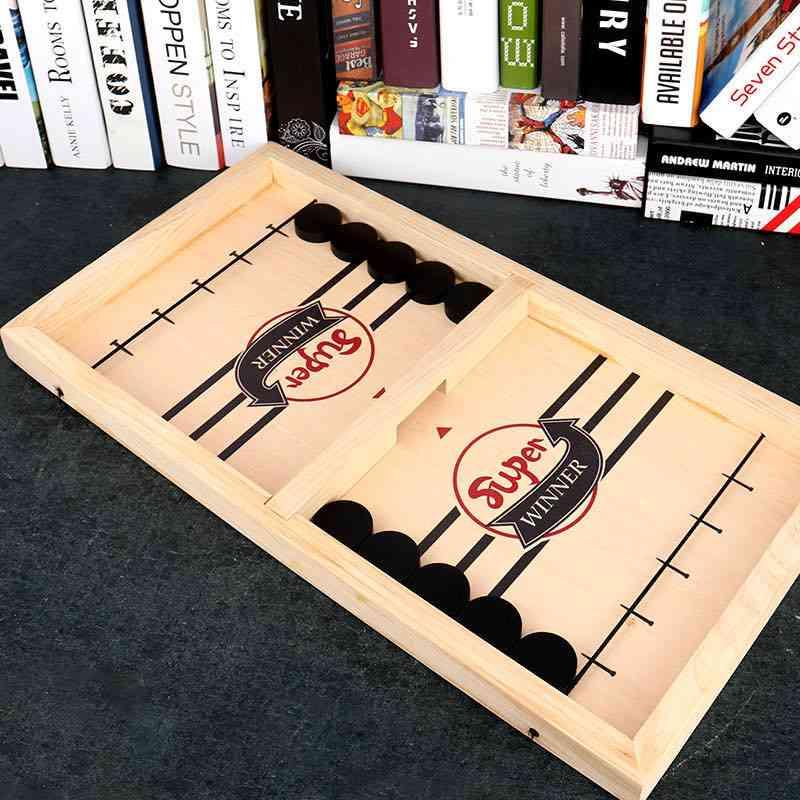 Table Fast Hockey Sling Puck Game, Winner Fun