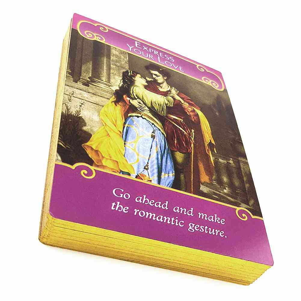 English The Romance Angels Oracle Cards Deck Mysterious Tarot Cards Board Game