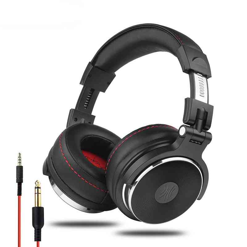 Wired Professional Studio Pro Dj Headphones With Microphone Over Ear Hifi Monitor
