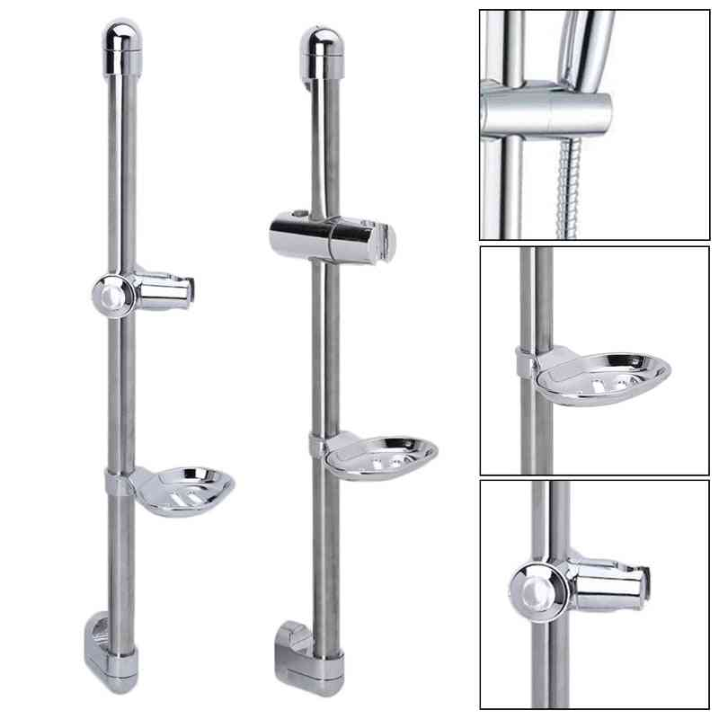 Shower Rod Soap Dish Lifter Pipe - Abs Lifting Frame Adjustable Head Holder