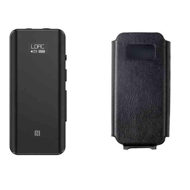 Btr5 With Case 24 Bit Hi-res Bluetooth 5.0 Receiver/usb Dac/dsd256, Headphone Amp With Ldac, Aptx Hd(3.5mm/2.5mm) (btr5 And Sk-btr5)
