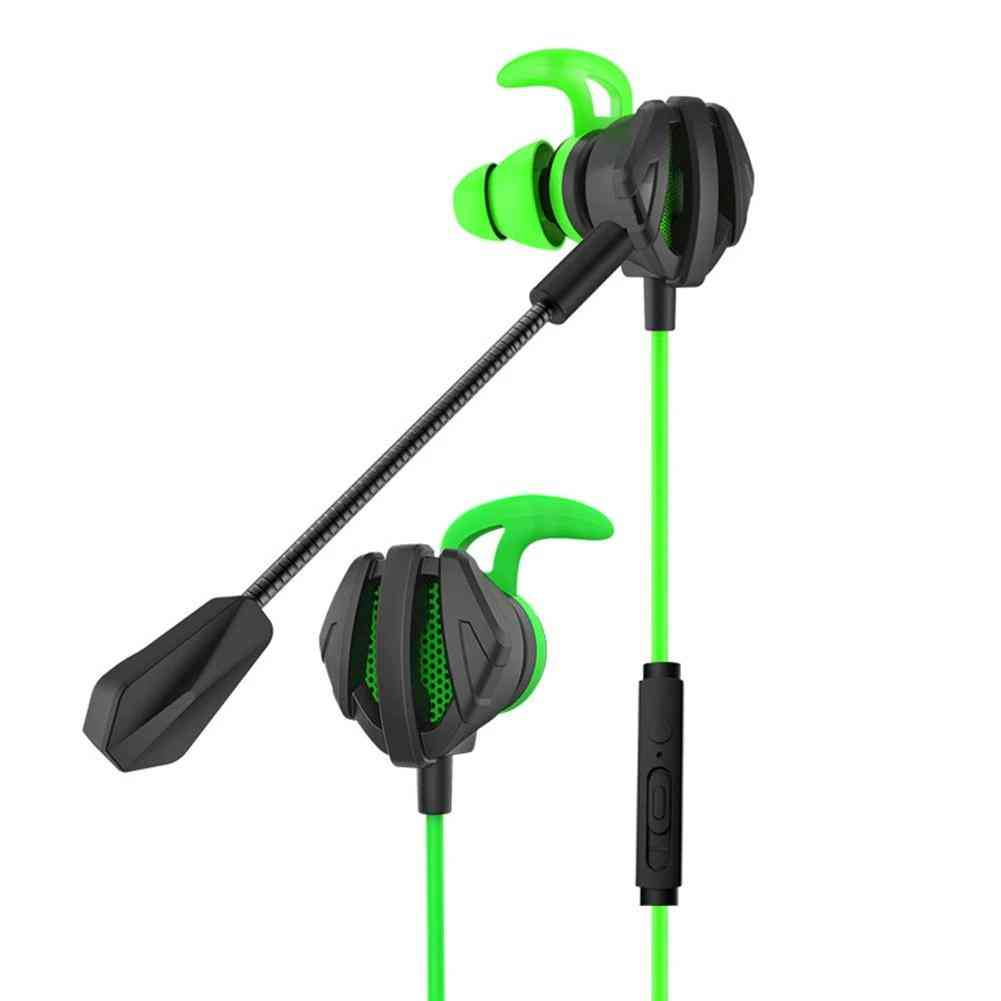 Portable Dynamic Noise Reduction In-ear Wired Call Earphones Gaming Computer Earpiece