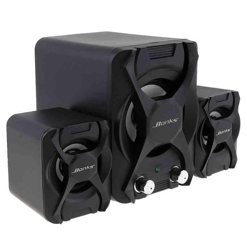 Portable Combination Speakers -3d Stereo Subwoofer, Pc Speaker, Bass Music Dj, Usb Computer Speakers For Laptop, Phone, Tv