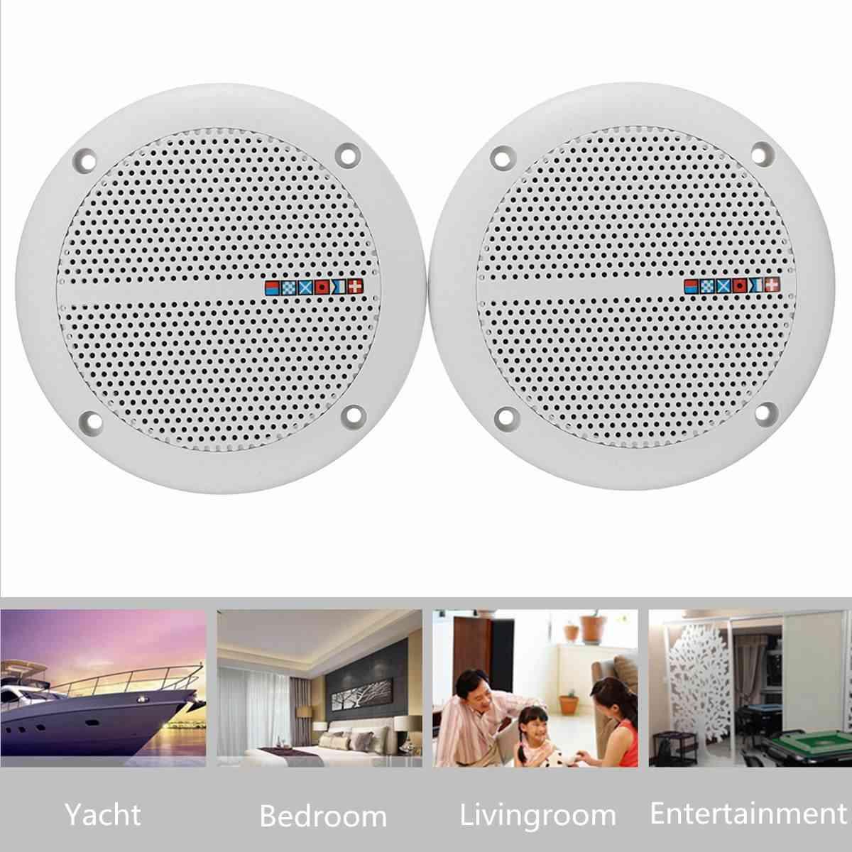 Ceiling Wall Speakers, Waterproof Loudspeaker, Marine Boat Water Resistant Speakers