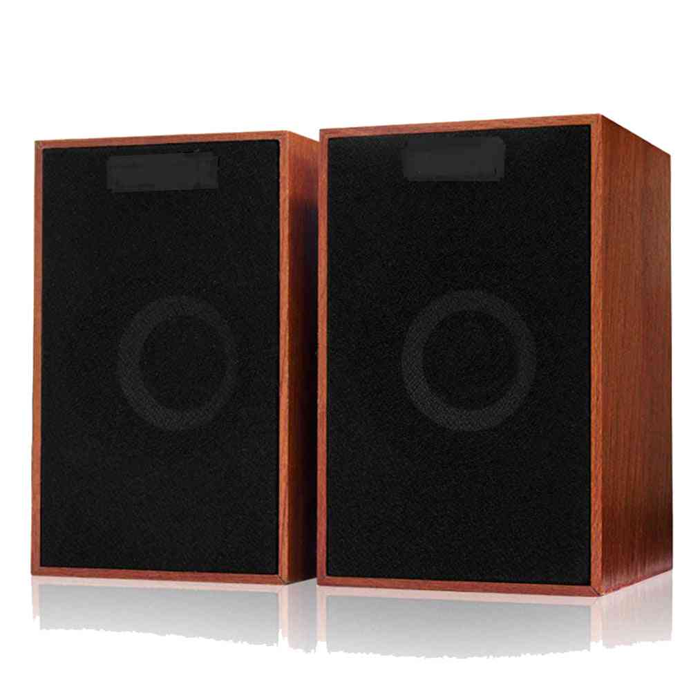 Usb Wired Multifunction Wooden Combination Speakers - Bass Stereo