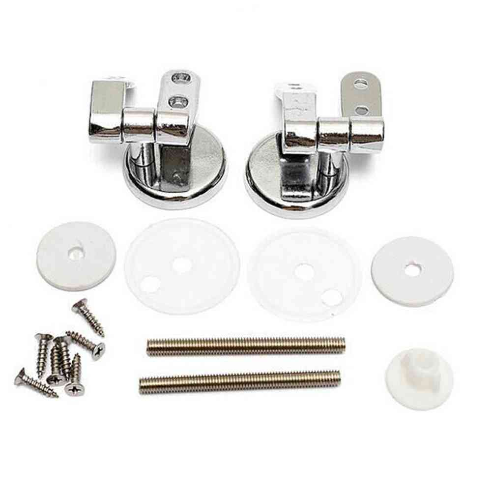 Zinc Alloy Toilet Hinges With Fittings - Replacement Gasket Kit