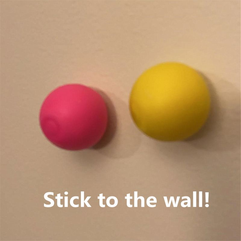 Wall Decompression Sticky Squash Ball Suction Toy - Sticky Target Catch Throw Ball Kids