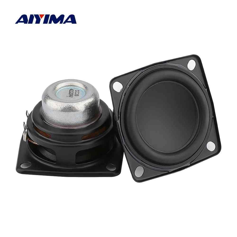 Aiyima 2-pcs 2-inch Full-range Audio-speaker, Unit 53mm 4 Ohm 20w Hifi Stereo Loudspeaker Diy Bluetooth Home Amplifier-speaker
