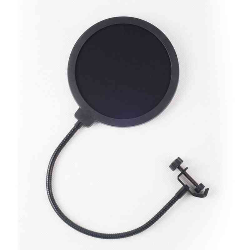 Yeti Dedicated Microphone Pop Filter- Large Double Layer U Type Recording With Anti Spray Network