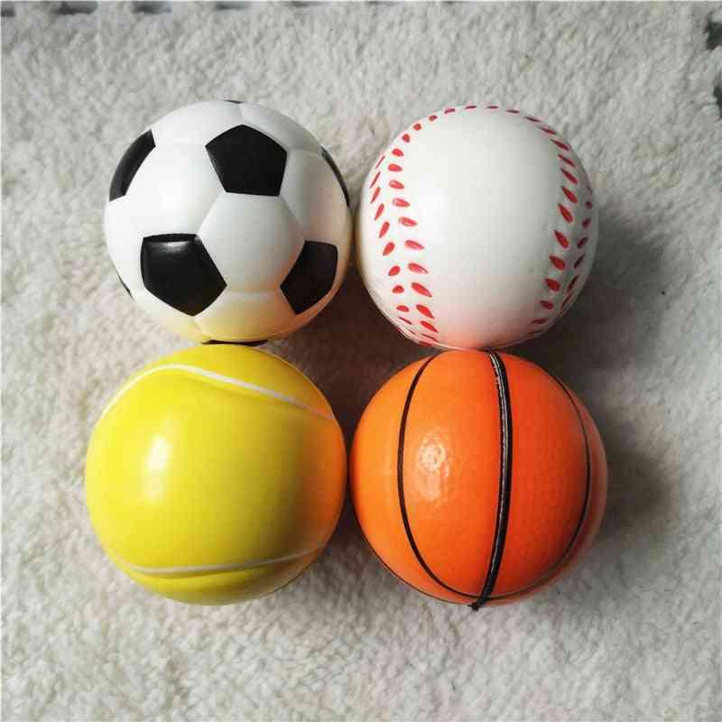 Anti Stress Basketballs, Footballs, Baseballs, Tennis Soft Pu Foam Squeeze Relief