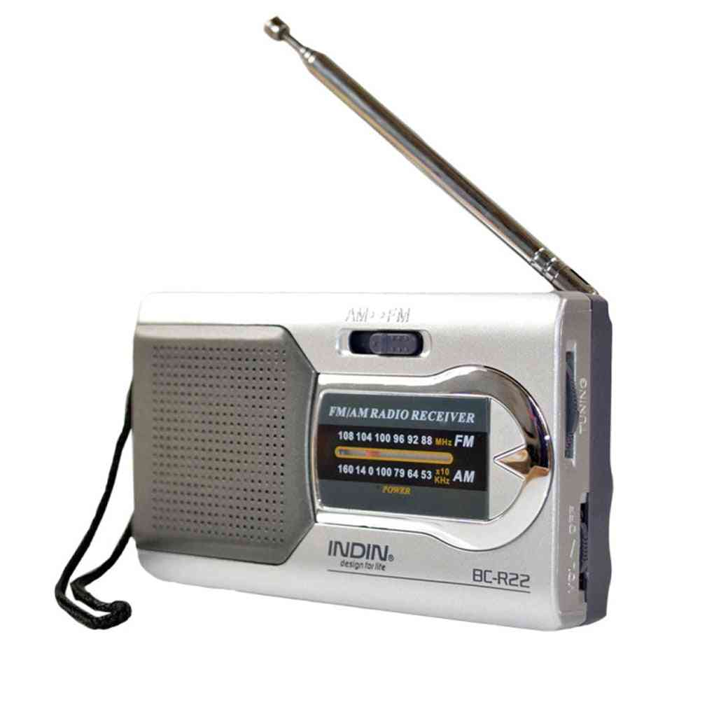Battery Powered Outdoor Portable Am/fm- Telescopic Antenna Radio Pocket Stereo Receiver