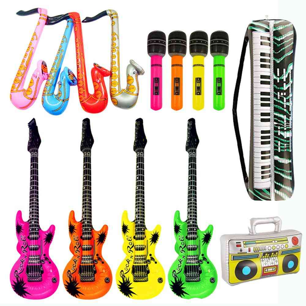 Inflatables Guitar Saxophone Microphone Balloons Musical Instruments Toy
