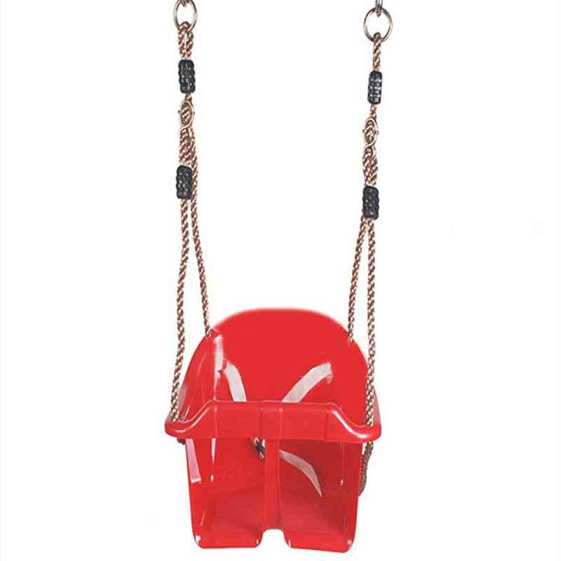 Plastic Chair Swing Toy With Adjustable Ropes For