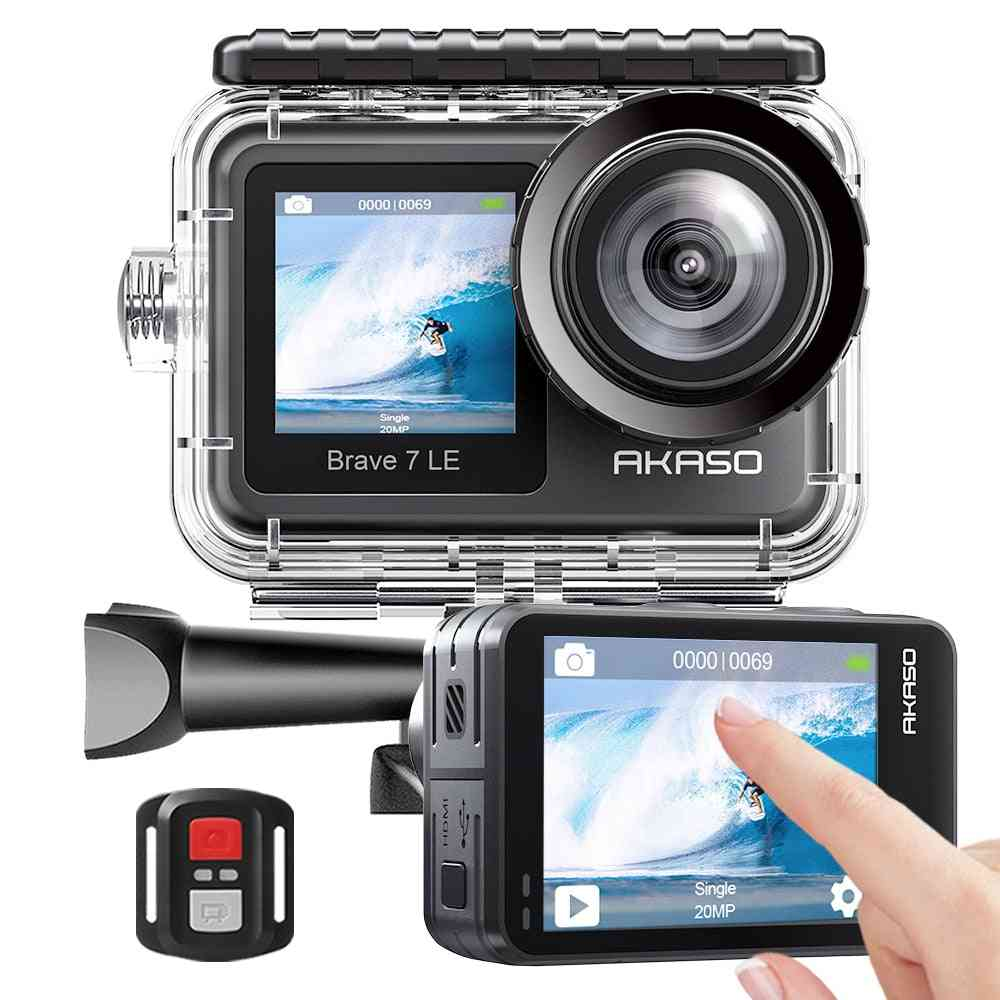 20mp Wifi Action Camera With Touch Screen, Remote Control