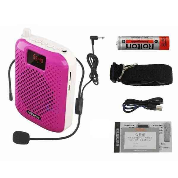 K500 Microphone Bluetooth Loudspeaker - Portable Auto Pairing Usb Charging Voice Amplifier Megaphone Speaker For Teaching