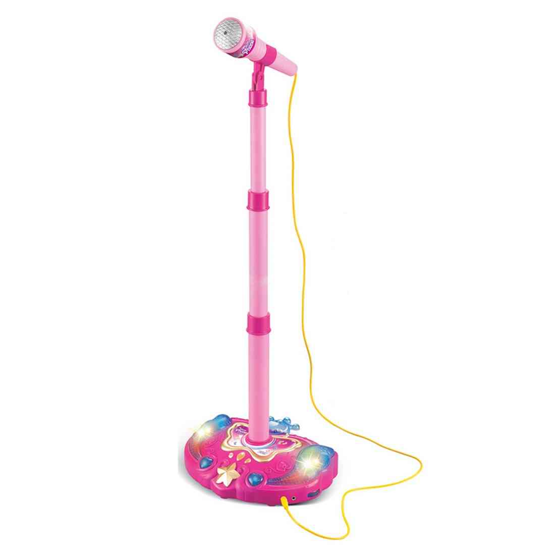Karaoke Microphone With Adjustable Stand -  Musical Instrument With Light Effect