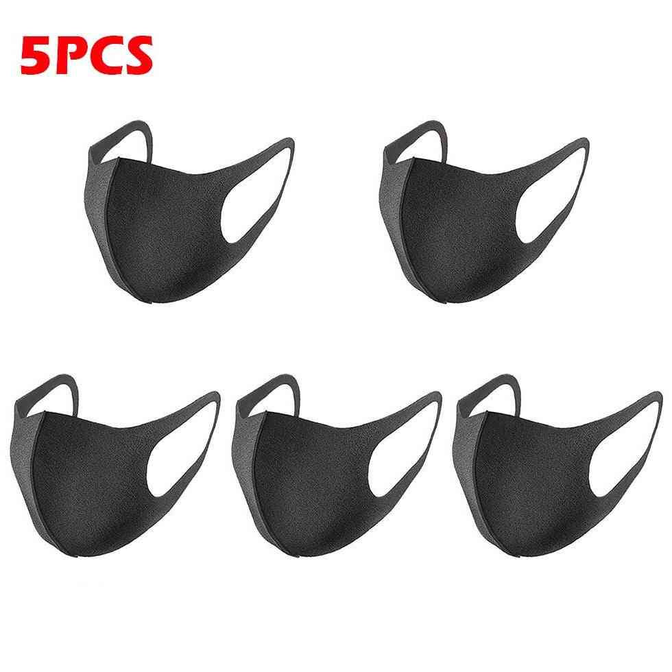 5pcs Face Mask Black Anti Dust  Masque