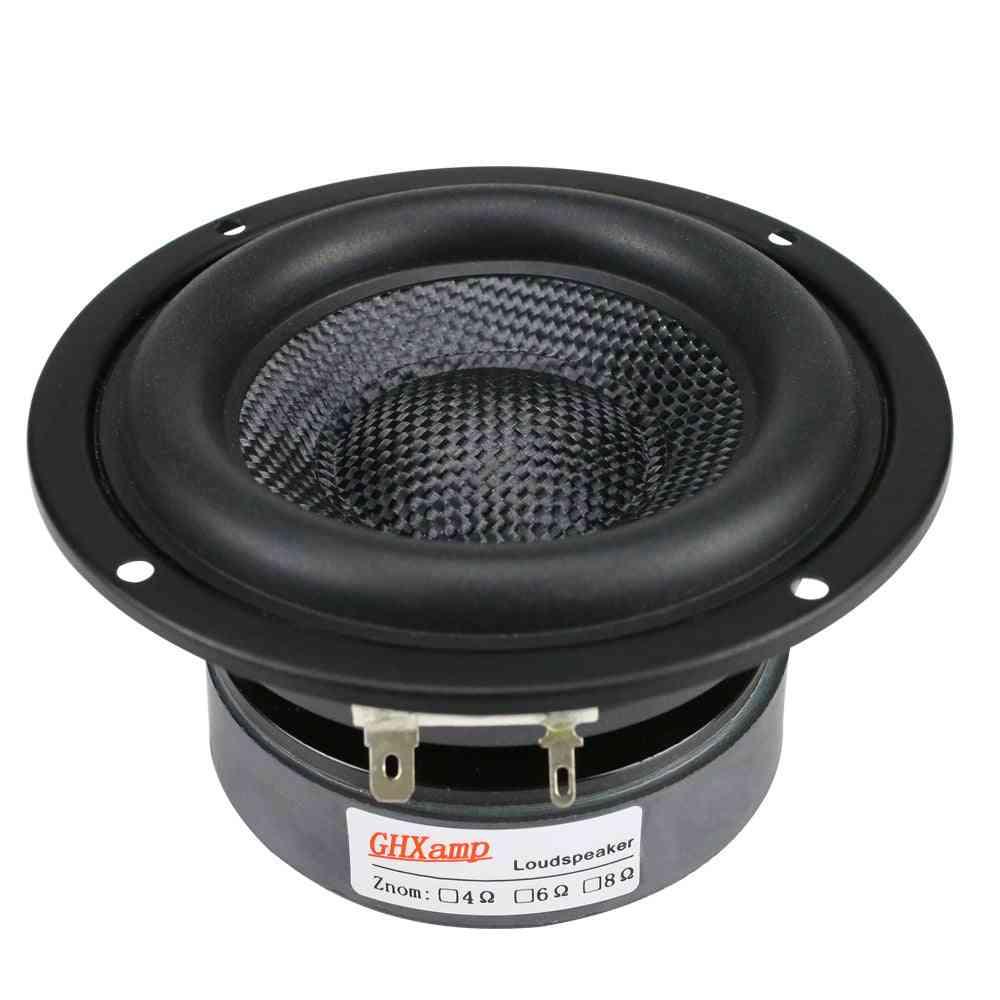 Subwoofer Speaker Unit Hifi Fiberglass Woven Basin Deep Bass Loudspeaker Magnetic
