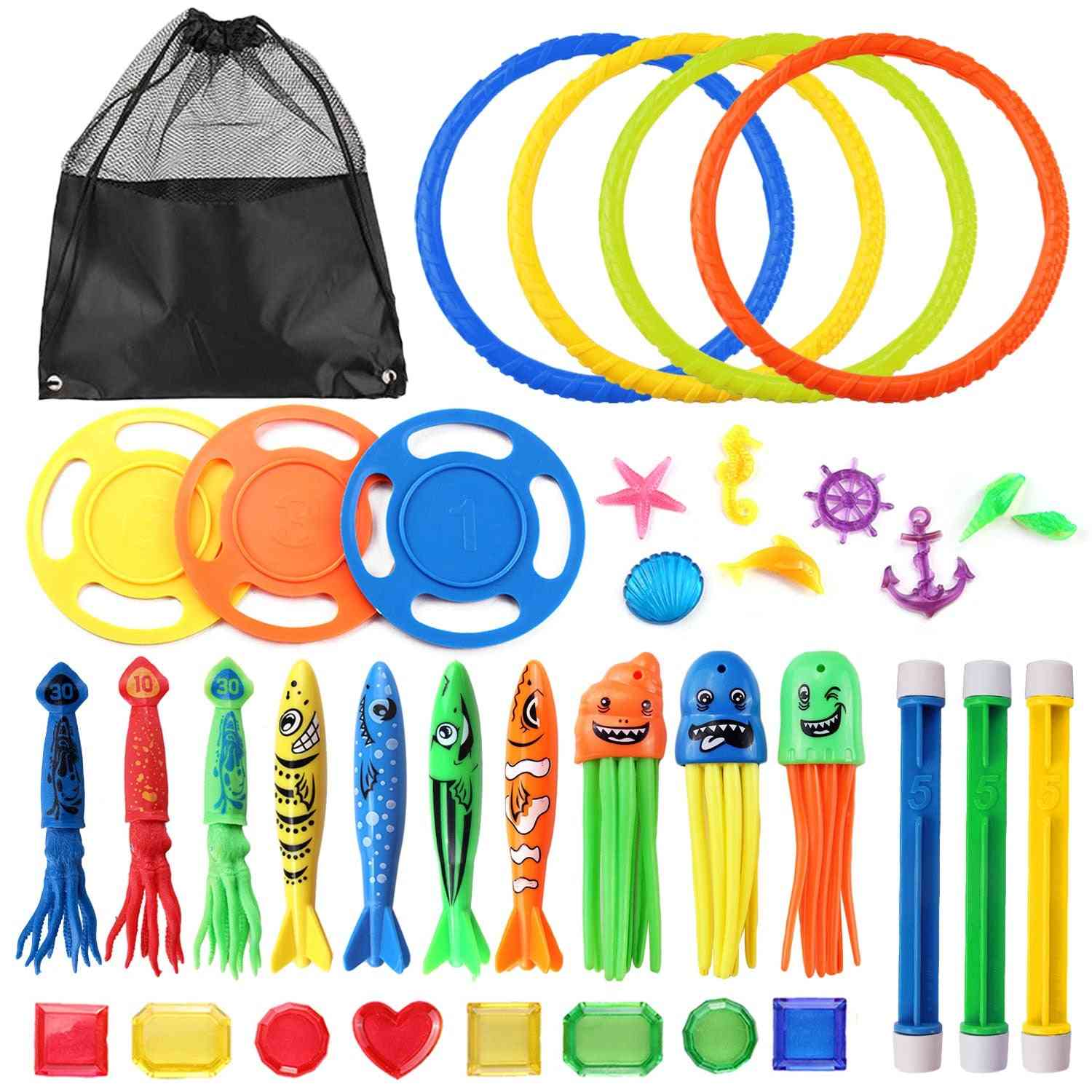 Funny Diving Set - Underwater Water Play With Storage Bag For /