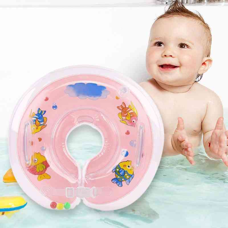 Inflatable Swim Ring - Circle Neck Float Summer Toy For Baby Bathing