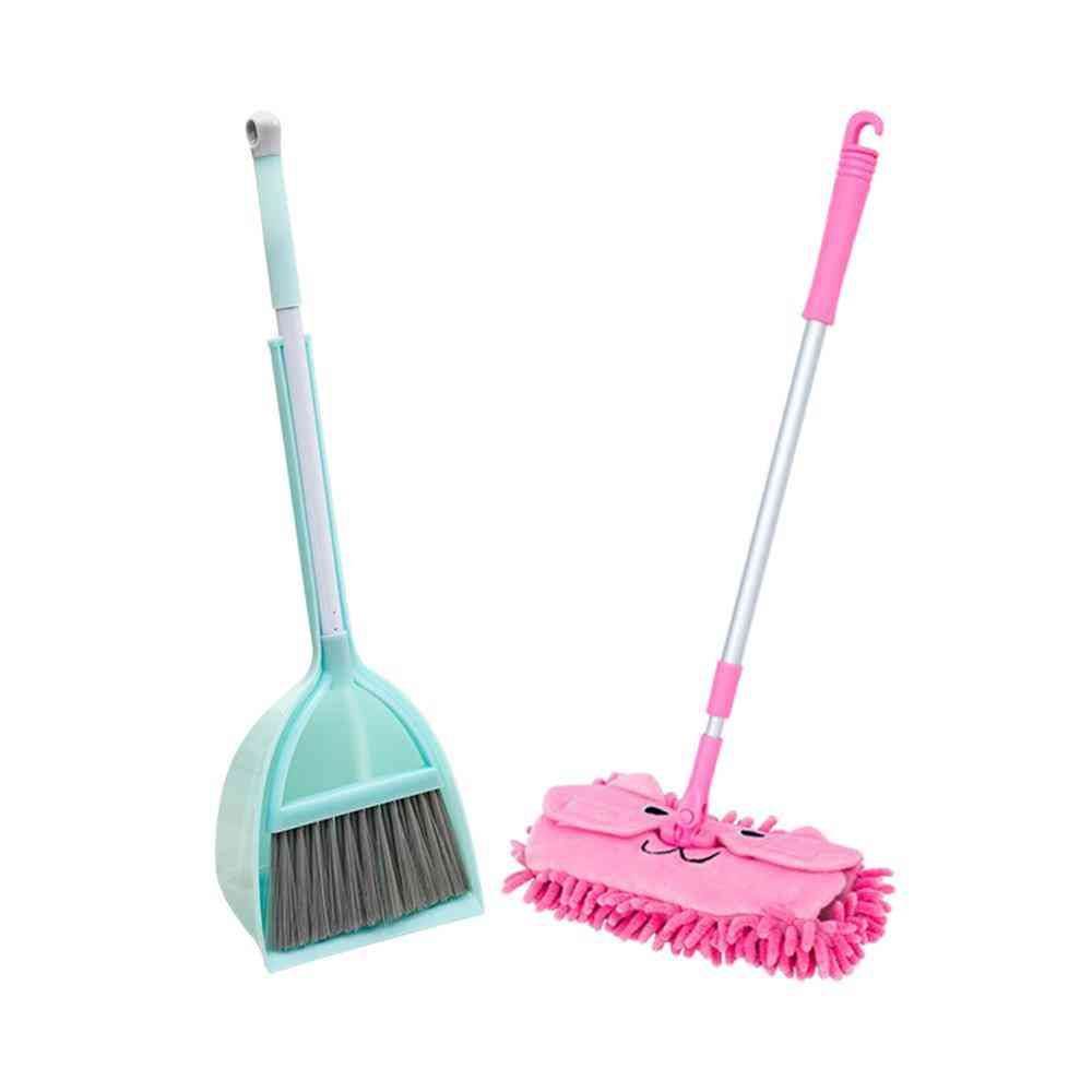 Miniature Broom And Mop-cleaning Set For Kids Pretend Play