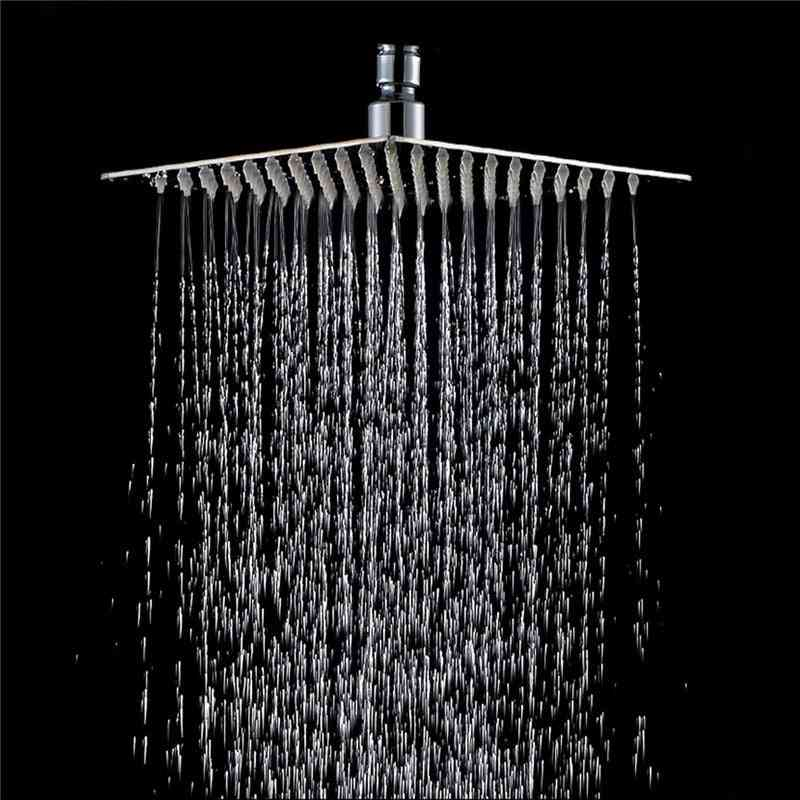 Stainless Steel, Ultra-thin Rainfall Style-shower Head For Bathroom