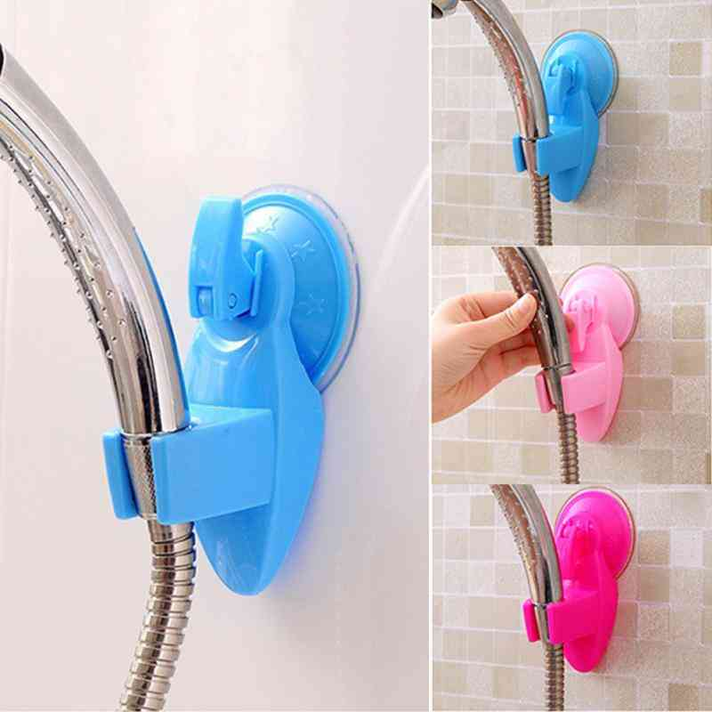 Adjustable Wall Mount, Shower Head Holder Bracket With Powerful Suction Cup