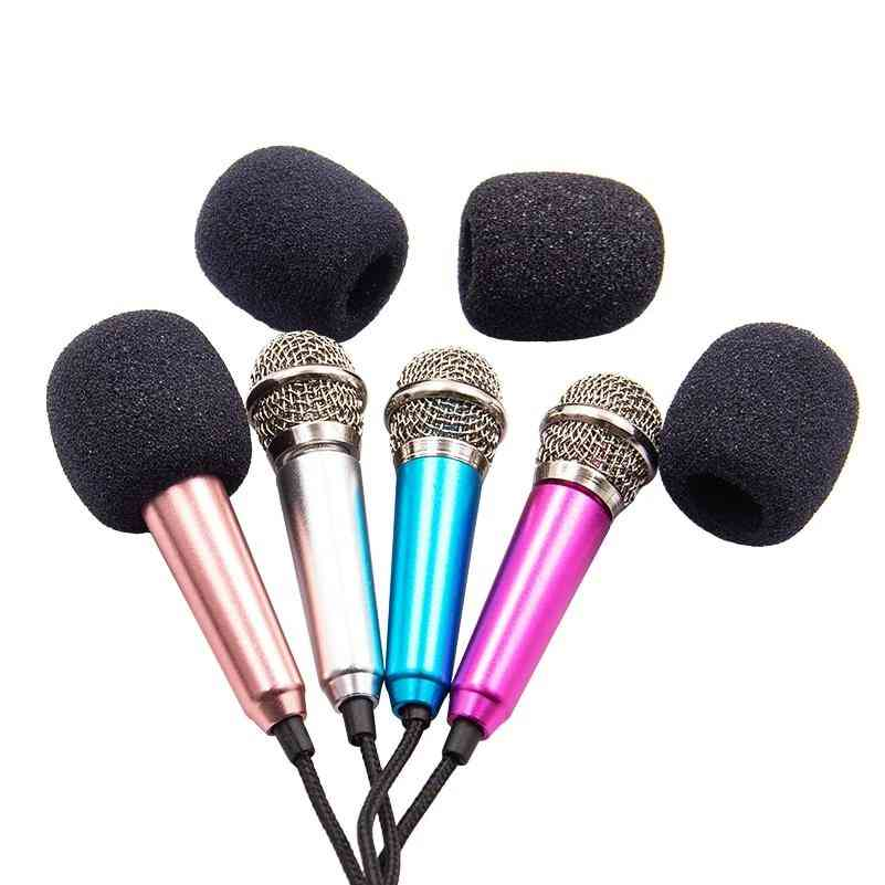 Handheld Mini Microphone, 3.5mm Double Track Plug For Smart Cell Phone/pc