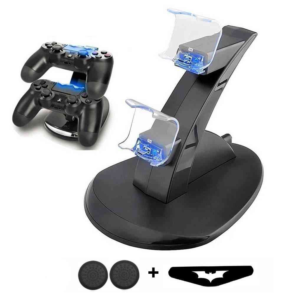 Ps4 Game Controller Charger - Dual Port Led Indicator Charging Station Dock Stand