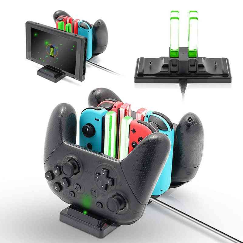 Joycon Controller Led Type C Charger - Gamepad Charge Stand