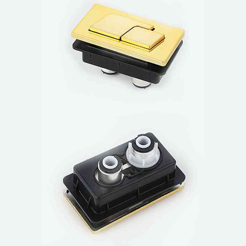 Square Abs Plastic Toilet Double Push Button For Water Tank