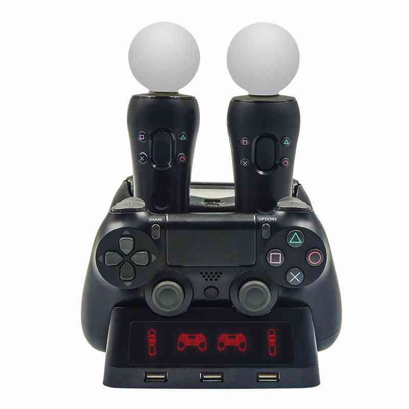 4 In 1 Controller Charging Dock Station Stand For Playstation