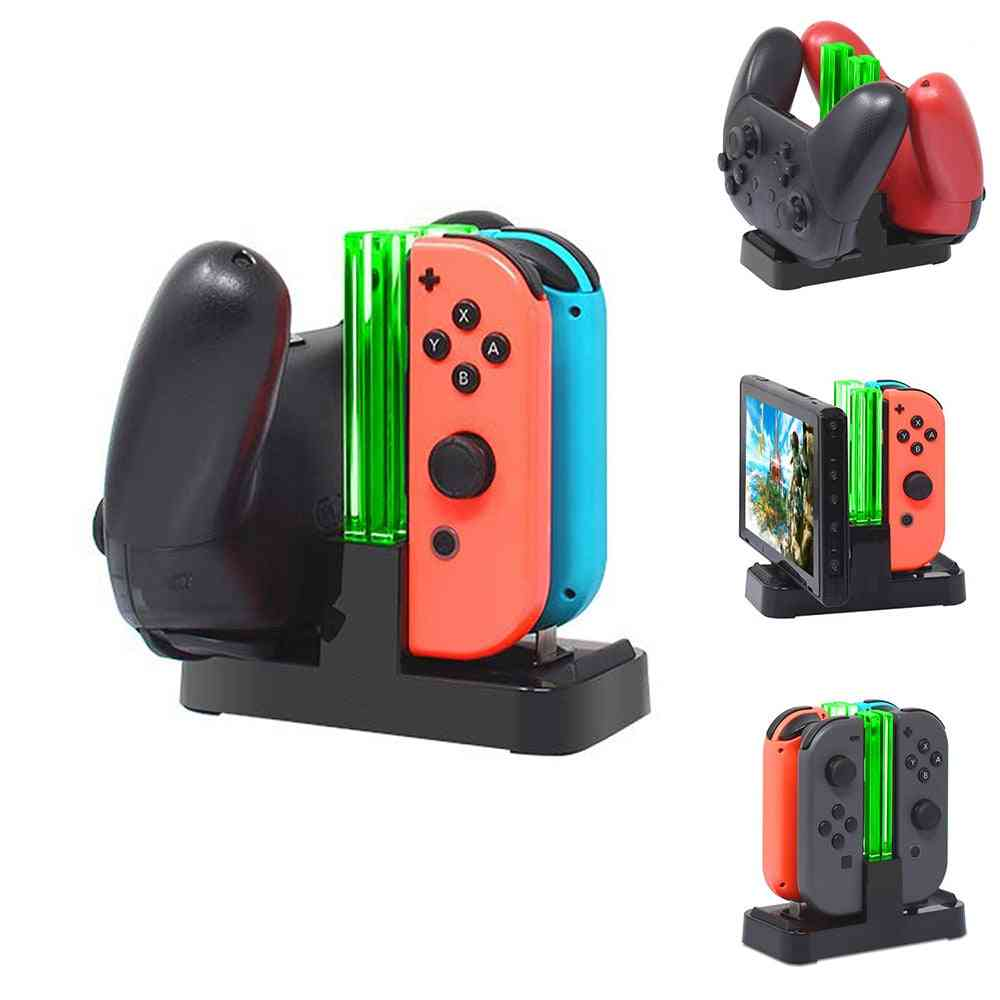 4 In1 Charging Dock  - Joycon Controller Led Charger