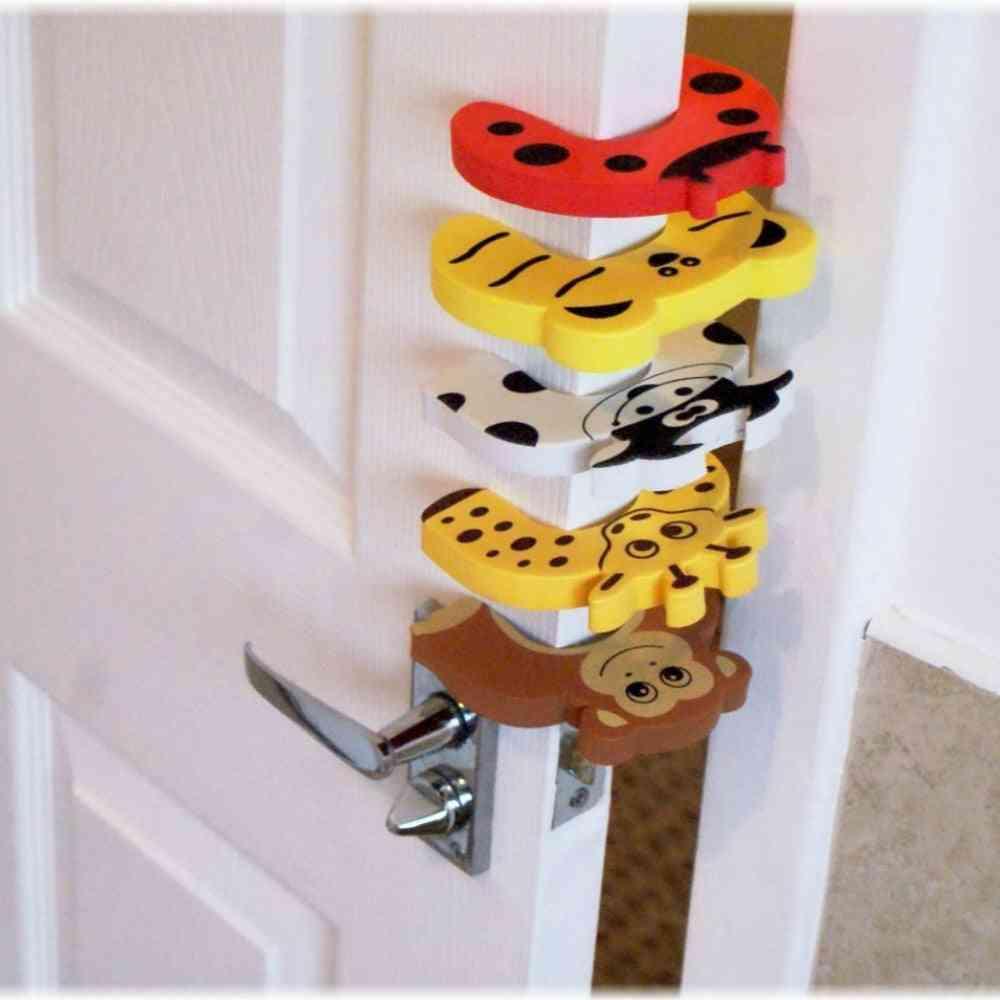Cartoon Animal Design Door Stopper For Kid's Safety- Finger Protector
