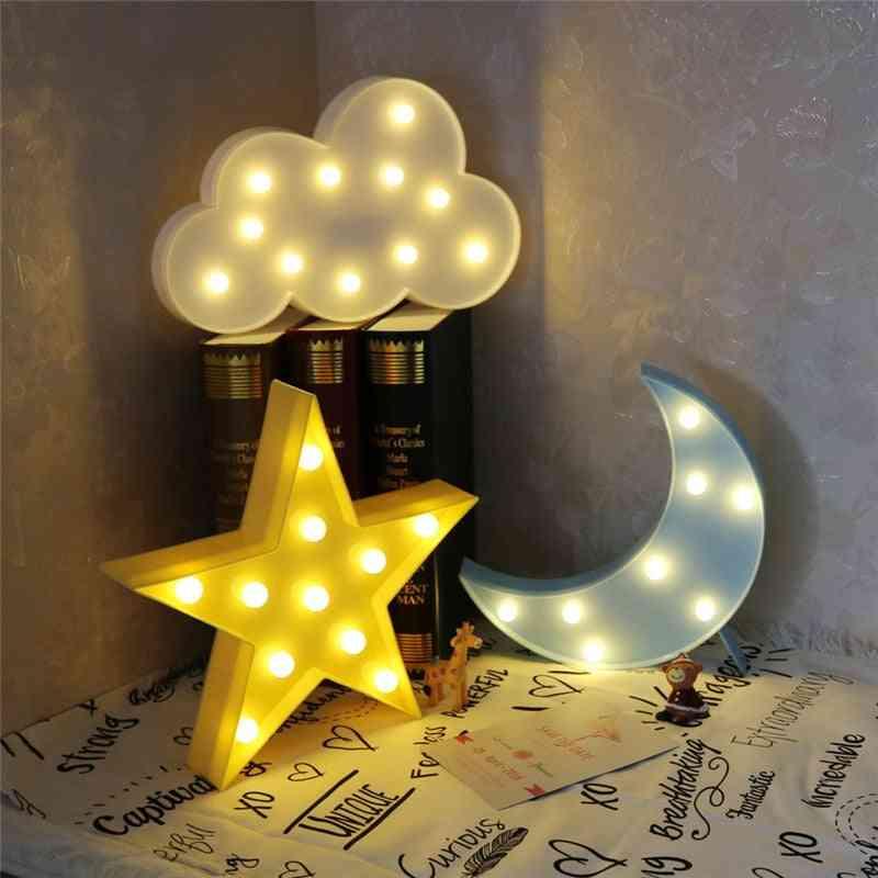 Lovely 3d Cloud/star/moon Shape Led Night Light