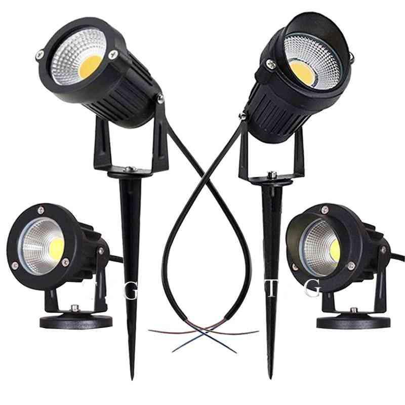 Led Waterproof Cob-spotlights For Garden , Outdoor, Lawn, Pathways