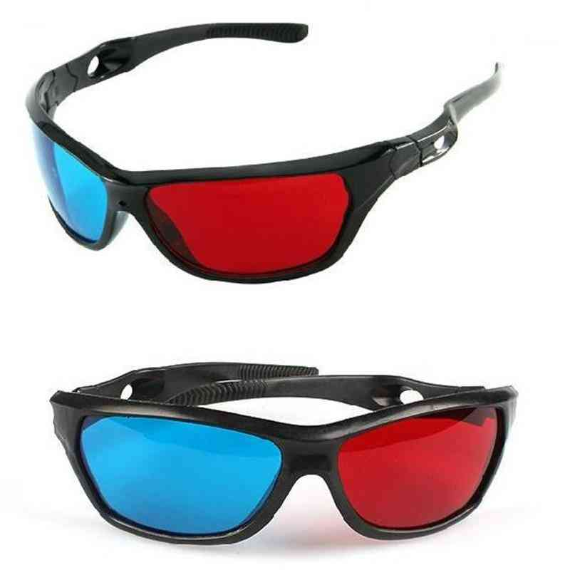 Universal 3d Glasses For Anaglyph Pictures And Vedios Games