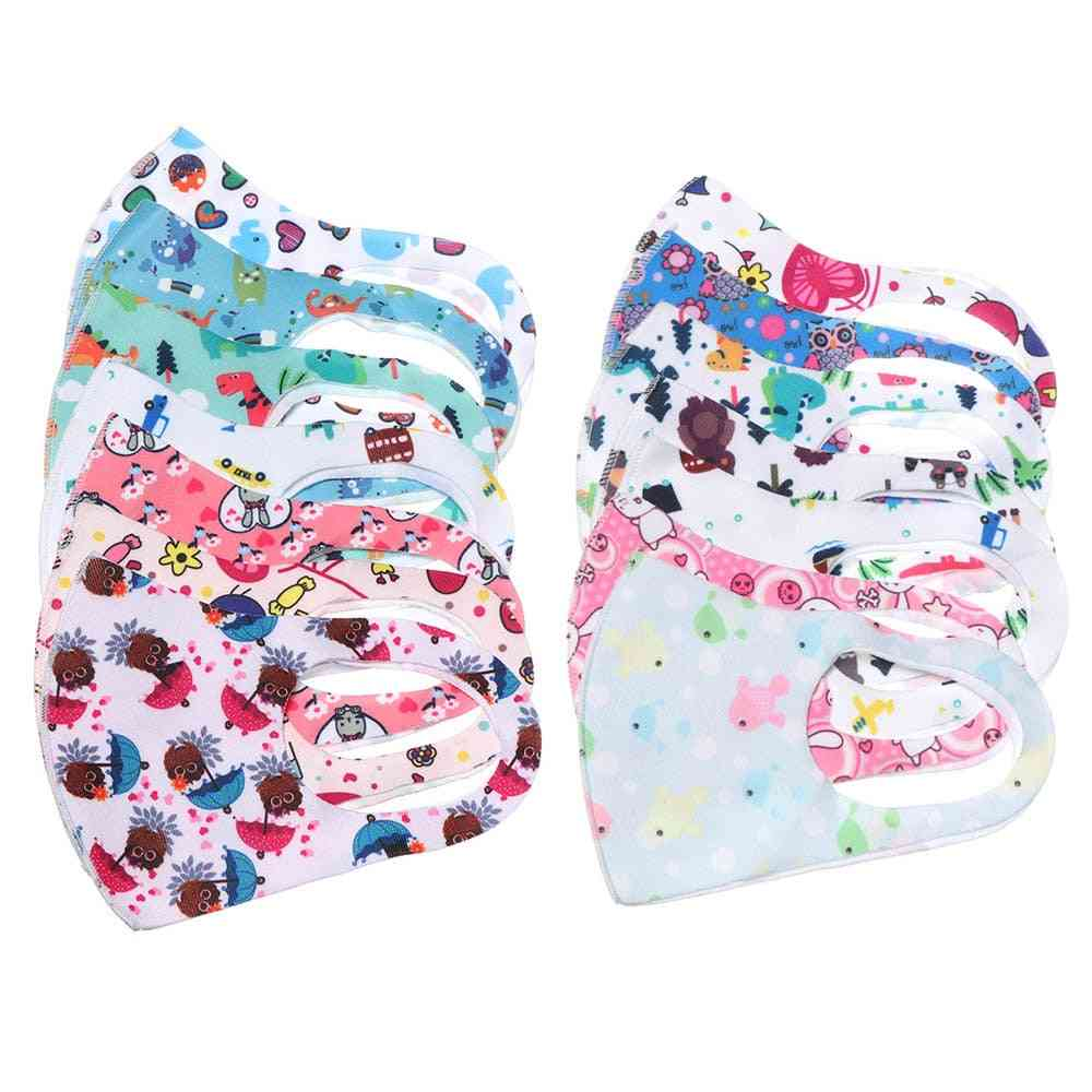 Pm2.5 Anti-pollution Cartoon Face Mask For Children-boys And, Cotton, Breathable, Washable, Re-usable