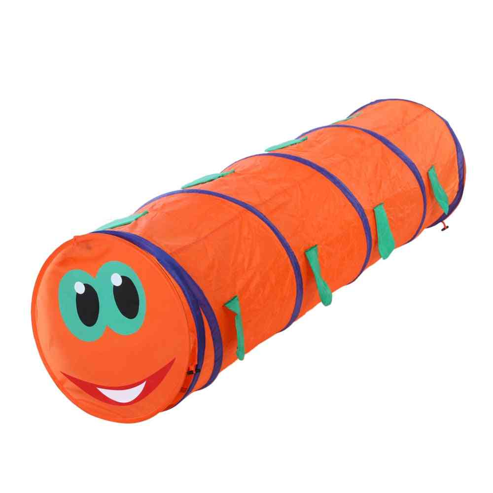 Children Caterpillar Shape Crawling Tent - Indoor / Outdoor Play Game Tube